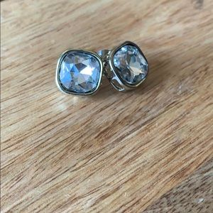 New York and company faux diamond stud earrings